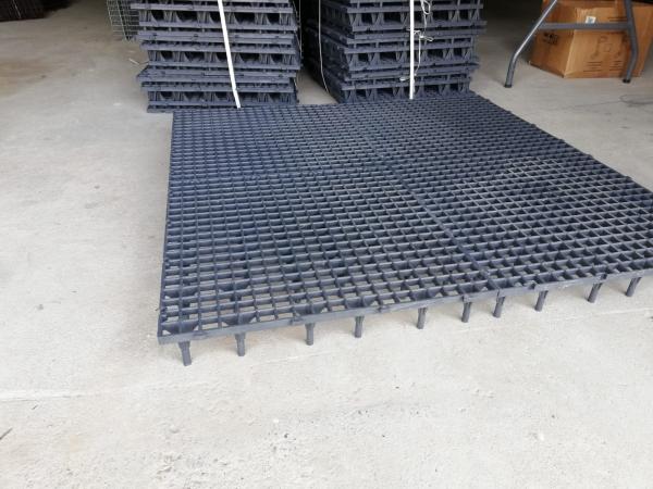Grătar pentru podea 50 x 50 x 8cm gri 3