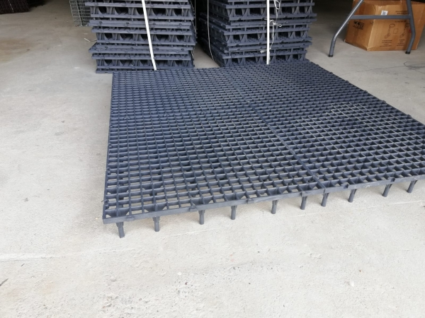 Grătar pentru podea 50 x 50 x 6cm gri 3