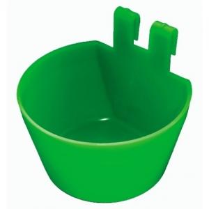 Hrănitoare-adăpătoare pentru cusca tip pahar verde sau albastru0
