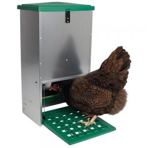 Hrănitoare automată pentru găini cu pedală capacitate 20kg [0]