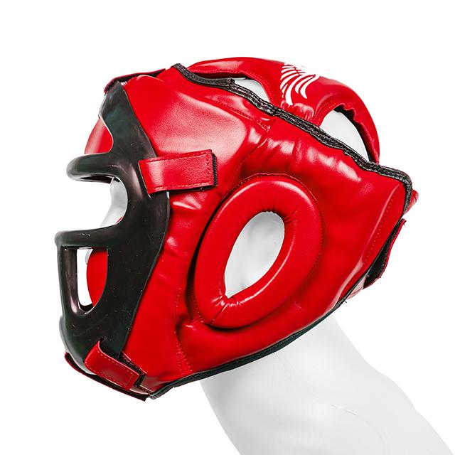 Casca  cu grilaj Protector 3.0 Rosie Armura 3
