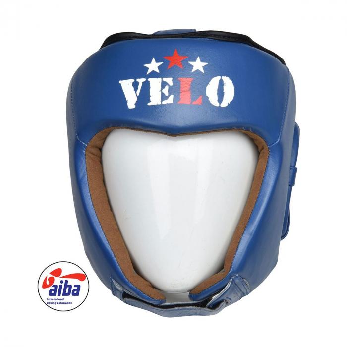 Casca de box Velo omologata AIBA Albastra 0
