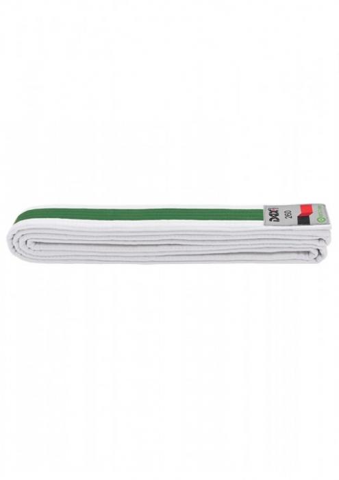 Centura  Bicolora Alb-Verde-Alb Dax Sports 0