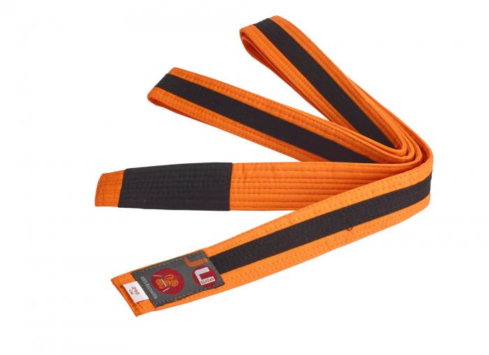 Centura  BJJ Junior portocaliu/neagra Ju Sports 0