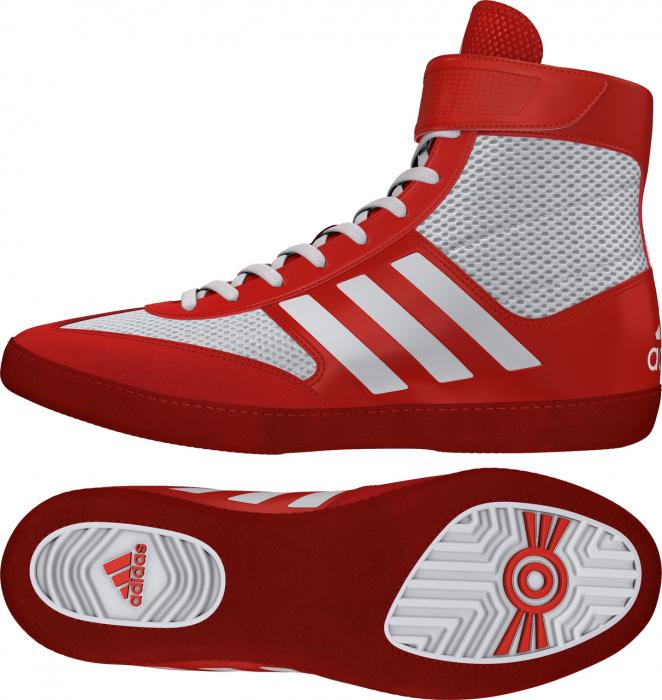 Ghete lupte Combat Speed V Rosii/Albe Adidas 0