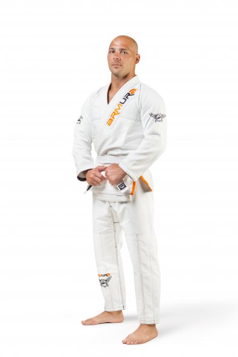 Kimono de BJJ  Praetorian Alb Armura 0