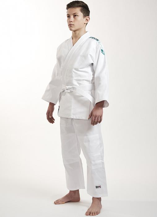 Kimono Ippon Gear Future Alb cu broderie verde [4]