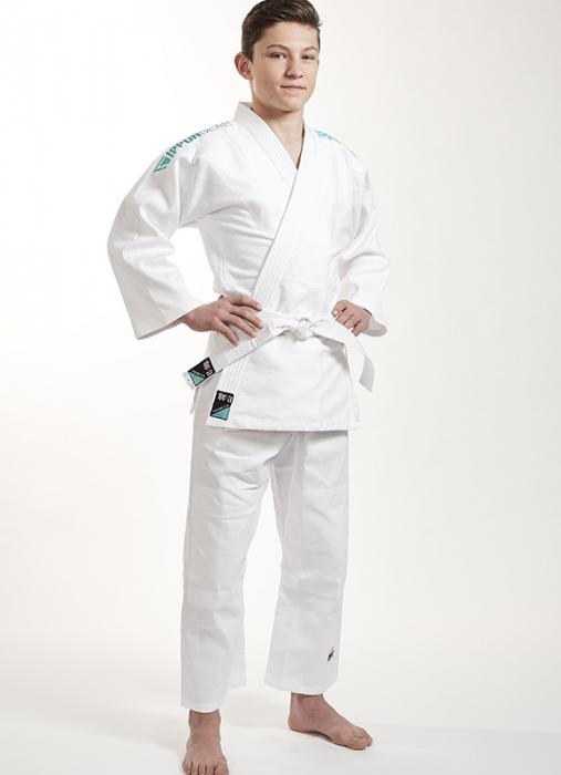 Kimono Ippon Gear Future Alb cu broderie verde [0]