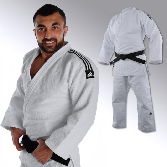 Kimono Judo Champion  IJF Alb Adidas 0