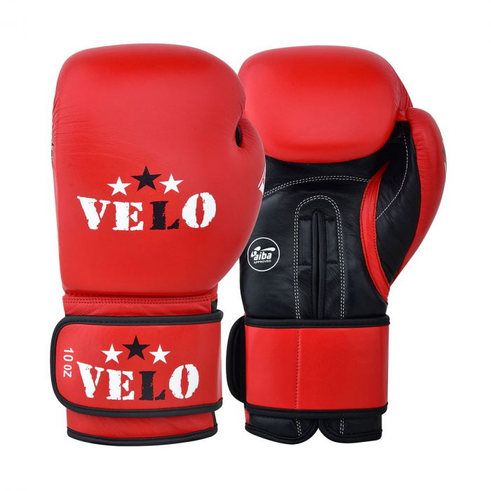 Manusi de box omologate AIBA Rosii Velo Boxing [1]