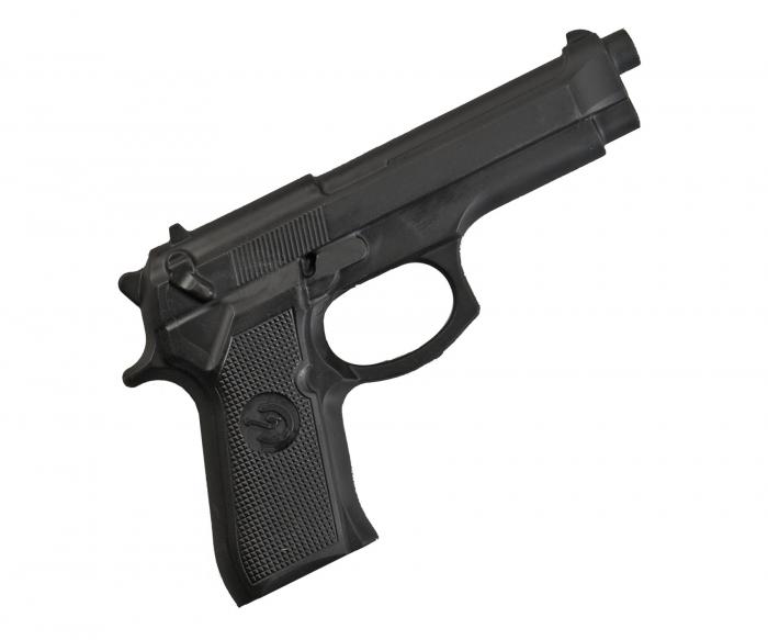 Replica  pistol cauciuc negru Armura [0]