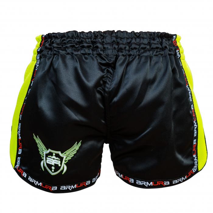 Short  Muay Negru/Verde  Armura [2]