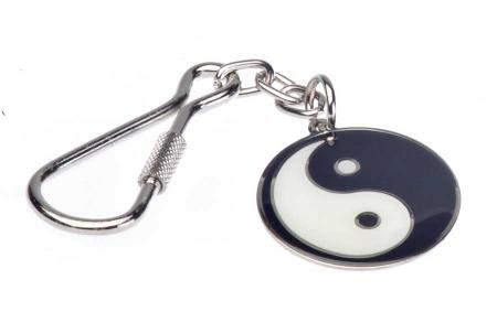 Breloc Metalic Ying Yang Armura