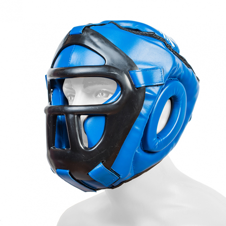 Casca  cu grilaj Protector 3.0 Albastra Armura0