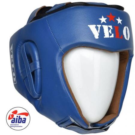 Casca de box Velo omologata AIBA Albastra1