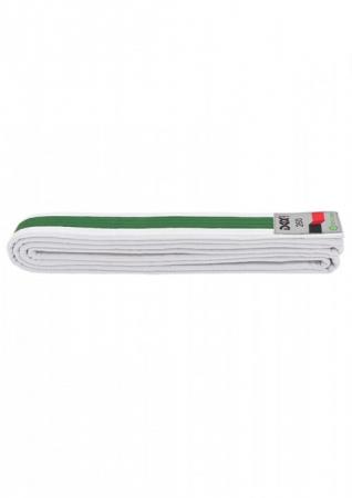 Centura  Bicolora Alb-Verde-Alb Dax Sports