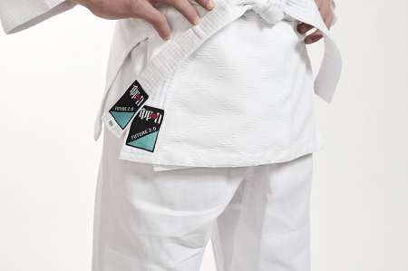 Kimono Ippon Gear Future Alb cu broderie verde [5]
