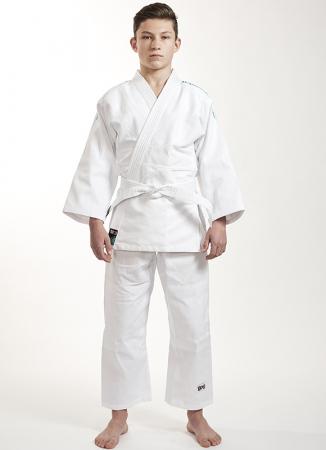 Kimono Ippon Gear Future Alb cu broderie verde [1]