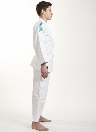 Kimono Ippon Gear Future Alb cu broderie verde [3]