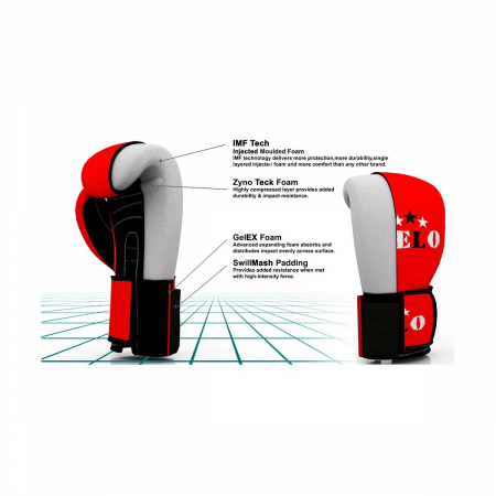 Manusi de box omologate AIBA Rosii Velo Boxing [4]
