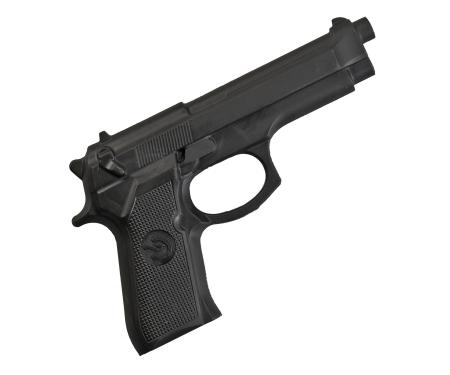Replica  pistol cauciuc negru Armura