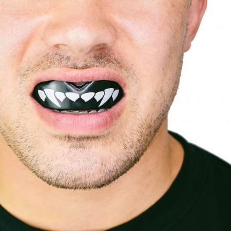 Proteza Dentara  SafeJawz Extro Dracula Neagra/alb Junior [2]