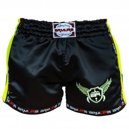Short  Muay Negru/Verde  Armura [1]