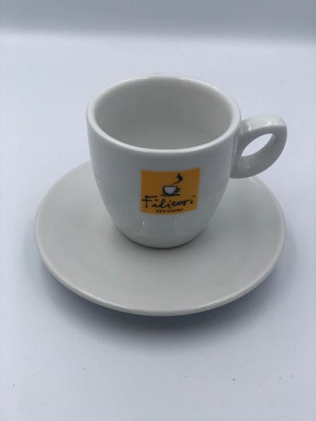 Ceramica Filicori Zecchini, Ceasca si farfurie,  Intermediara/caffee lungo 2