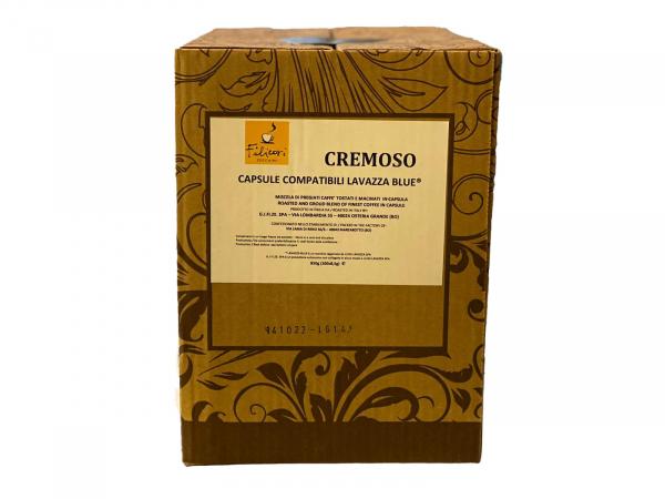 Cafea Filicori Zecchini in capsule blue, Cremoso 8,5g. Compatibile Espresso Blue/ 100 buc 0