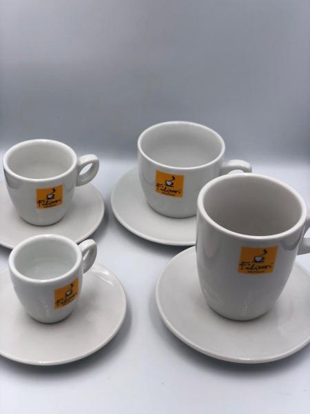Ceramica Filicori Zecchini, Ceasca si farfurie,  Intermediara/caffee lungo 1