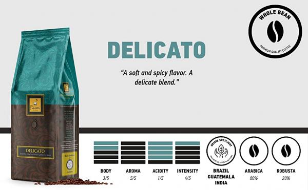 Cafea Filicori Zecchini  Gran Crema Delicato, 1 Kg boabe 2