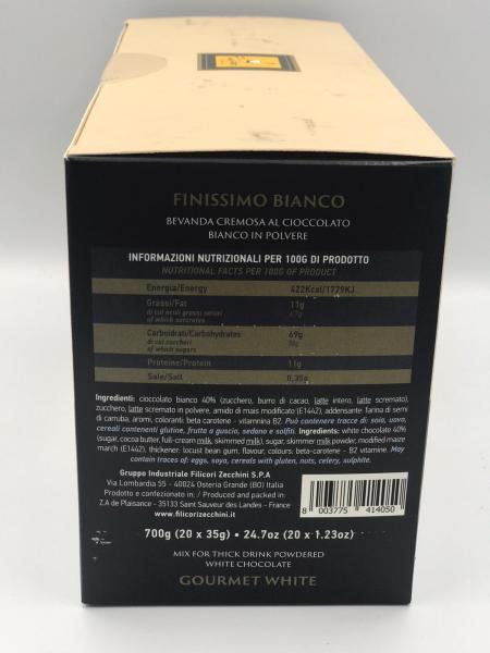Filicori Zecchini Chocolate/Ciocolata Alba  20 plicuri/ 35g, 700g Total 2