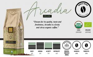Cafea Filicori Zecchini, Arcadia Bio (Organic), 1 kg boabe [1]