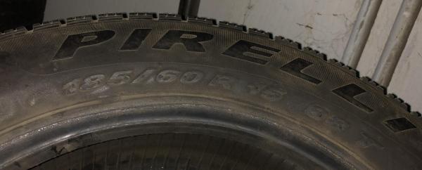 set 2 anvelope 185/60 R15 sh iarna Pirelli 6mm cu garantie 3