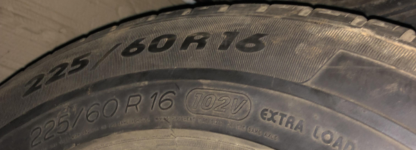 set 2 anvelope 225/60 R16 sh iarna Michelin 5mm cu garantie 4