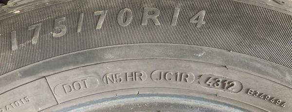 set 4 anvelope 175/70 R14 sh vara Dunlop 6mm cu garantie 5