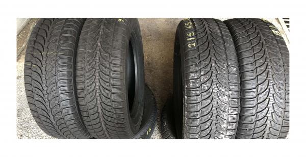 set 4 anvelope 215/65 R16 sh iarna Bridgestone 7.2mm cu garantie 0