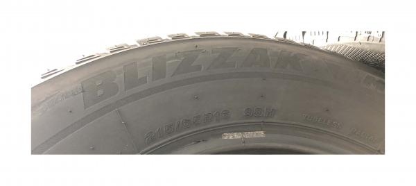 set 4 anvelope 215/65 R16 sh iarna Bridgestone 7.2mm cu garantie 2