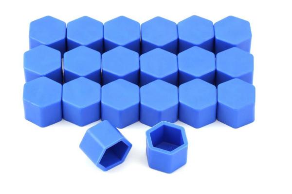 Set 20 capace prezoane pe 19 mm din silicon colorate 1