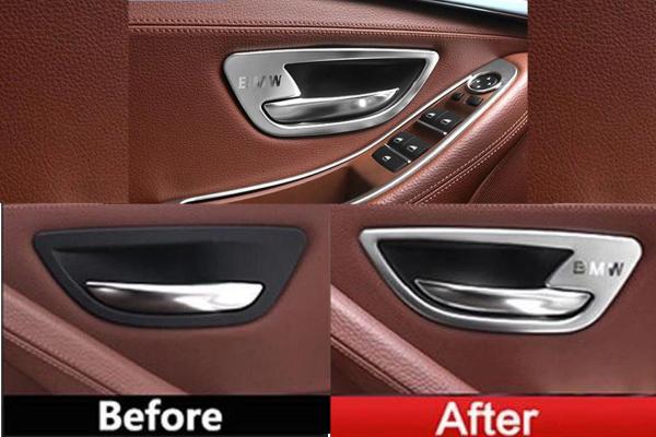 Set 4 ornamente portiere din aliaj pentru BMW F10 F11 seria 5 2010>2017 0