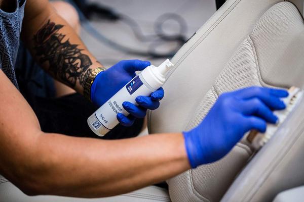 Set de ingrijire BenBow pentru curatare si intretinere piele auto, Benbow, 350ml 3