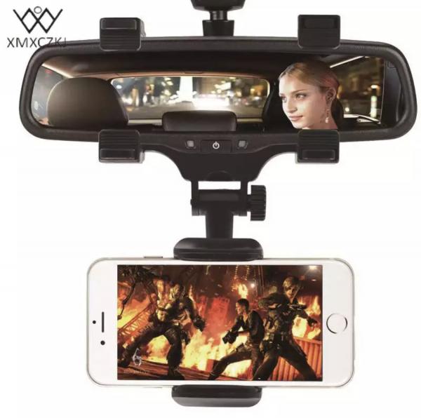 Suport telefon auto pe oglinda, 360 grade 0