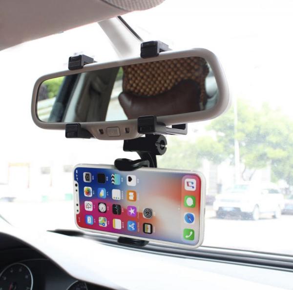 Suport telefon auto pe oglinda, 360 grade 1