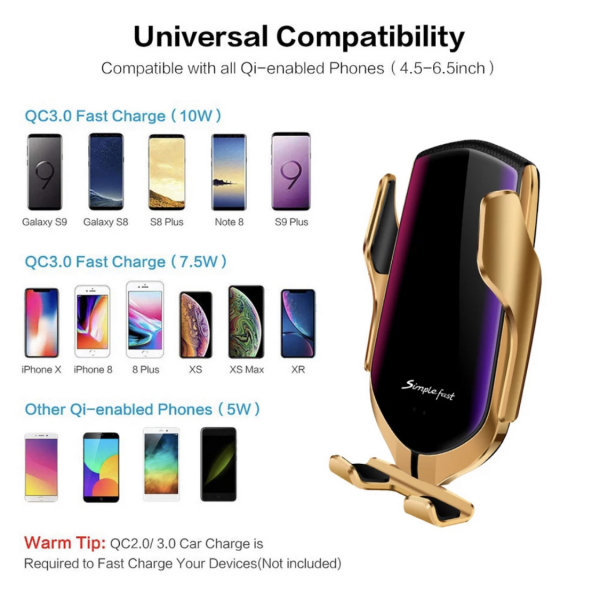 Suport telefon auto cu incarcare wireless [6]