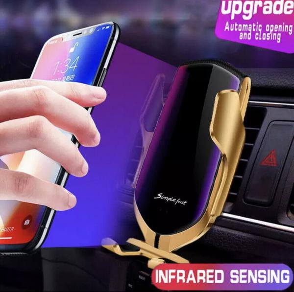 Suport telefon auto cu incarcare wireless [3]
