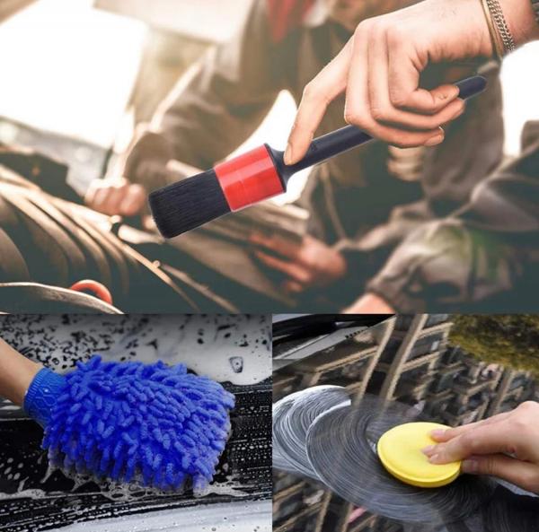 Set 13 perii de curățare a mașinii interior exterior 2