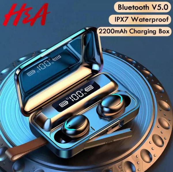 Casti Bluetooth V5.0 fara fir cu microfon 2200mAh 4