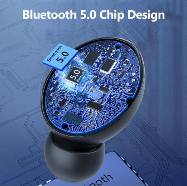 Casti Bluetooth V5.0 fara fir cu microfon 2200mAh 1
