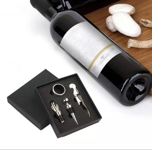 Set 4 buc accesorii pentru deschiderea sticlei de vin din oțel inoxidabil 9