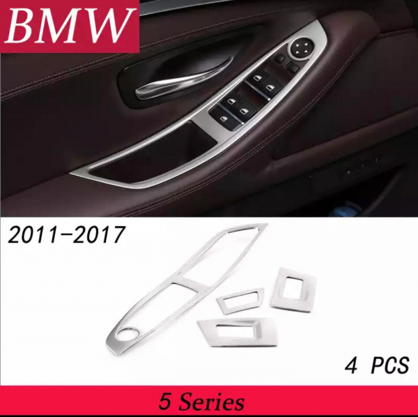 Set 4 piese ornament portiera din aliaj pentru BMW F10 seria 5  2011>2017 6